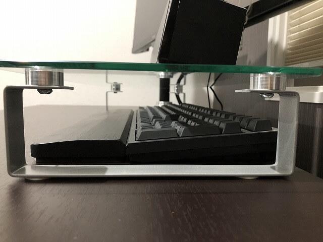 hABa『モニタースタンド』キーボード収納(横)