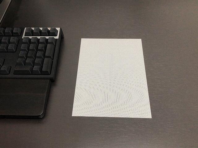 PLUS『ななめカットデスクマット』付属のマウスシート